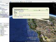 Geolocated traceroute data shown in Google Earth