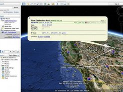 4 - Geolocated traceroute data shown in Google Earth