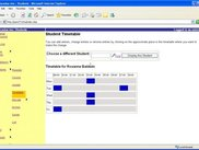 3. Manage Student Timetable page