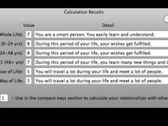Sample Calculation Results