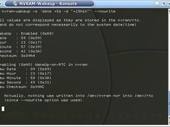 --nowrite option: Simulation, no changes are made to nvram.