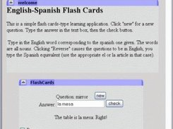 Example application-- Flash cards