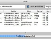 Scan is in progress (fetching metadata).