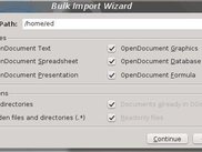 The bulk import wizard in 0.4.3