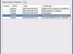 Dialog with SVN history