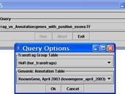 Setting up a query in the TAS Client GUI
