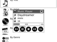 3. The Music screen with the active Music Player