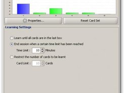 The last-minute learning-settings dialog