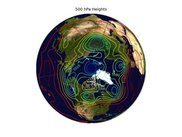 500 hPa heights on a Blue Marble image (PyGrADS)