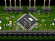 Front of the OpenLCD PCB