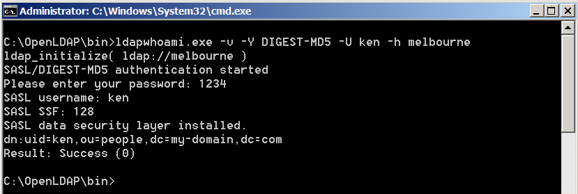 use ldap for windows authentication code
