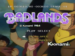 Badlands (Konami) with Palcom Laserdisc emulation