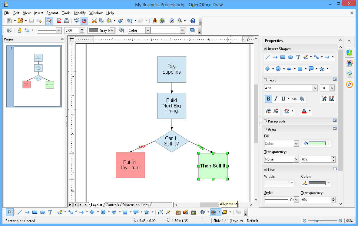 Apache openoffice Open source diagram tool