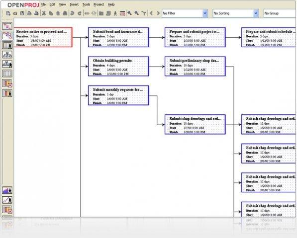 Openproj project management download sourceforge network diagram ccuart Images