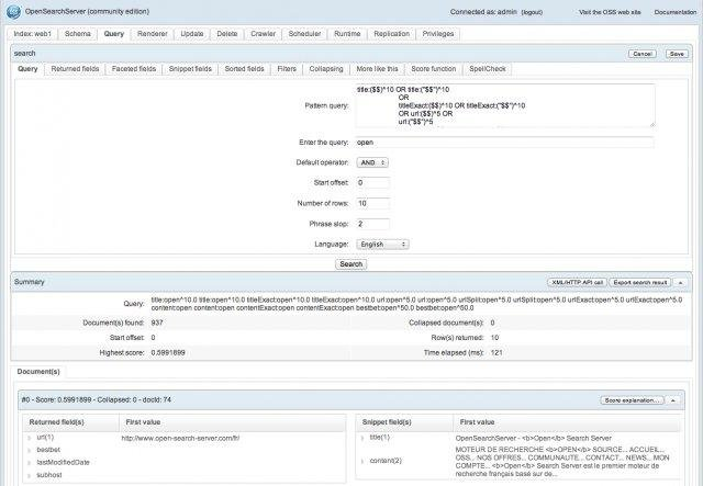 OpenSearchServer search engine download   SourceForge net