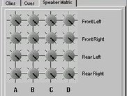 Sound channels into speaker matrix tab