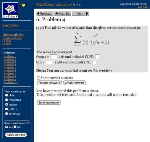 webwork online homework delivery system