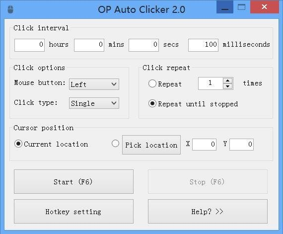 AutoClicker download | SourceForge net