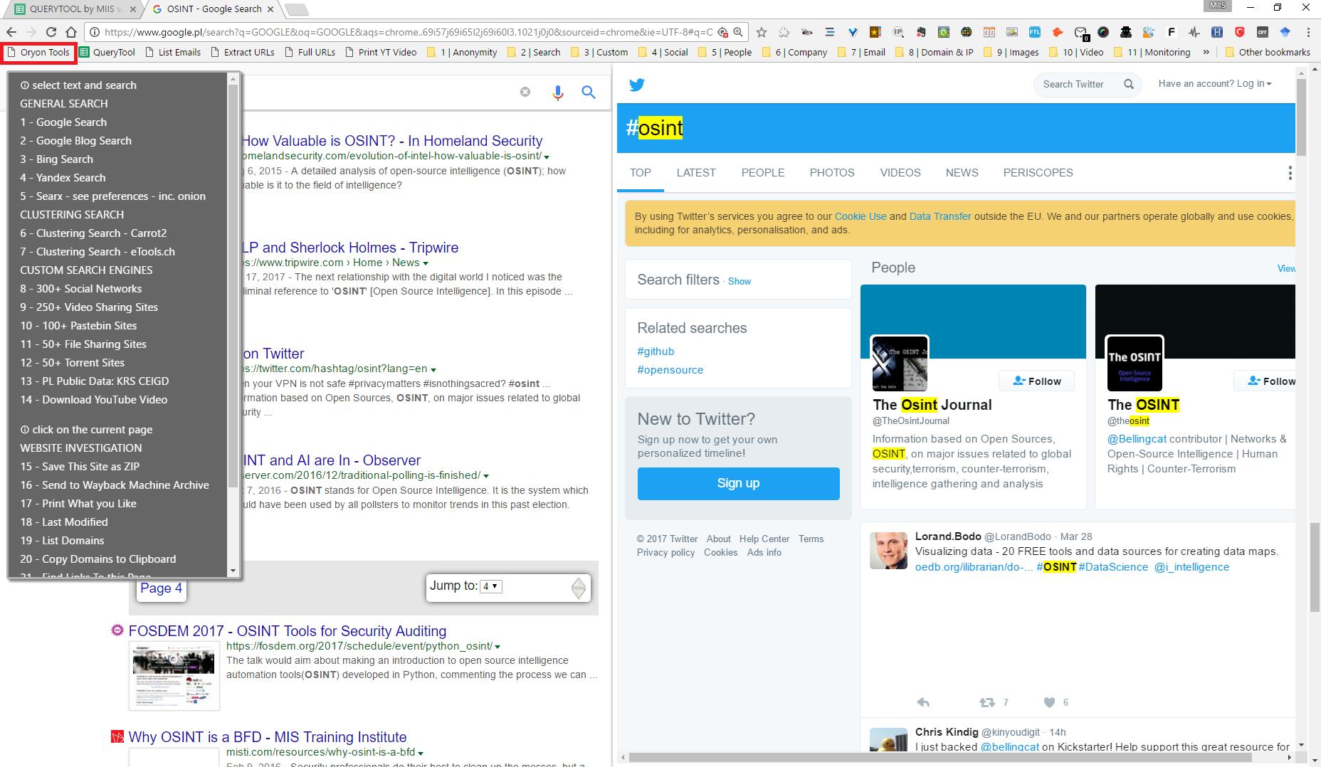 Oryon OSINT Browser download   SourceForge net