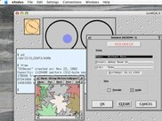 OS9exec screenshot on MacOSX