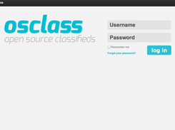Osclass Admin Login