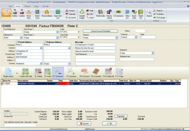 OsFinancials Accounting Software Download SourceForgenet - Invoice software full version