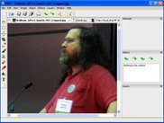 OVAT version 0.2.0 Alpha, showing a pic of Richard Stallman