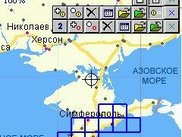 OziCE with loaded index track (the map is Crimea of Ukraine)