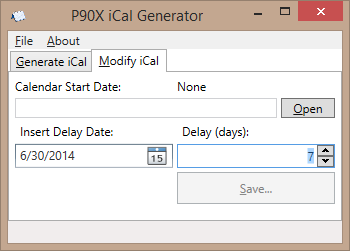 P90X iCal Generator download | SourceForge net