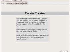 Packin Creator upon startup and running in Ubuntu Gutsy