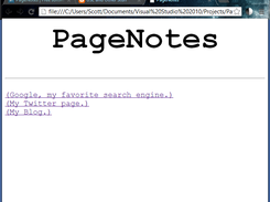PageNotes HTML in a web browser. It's very minimal and that's what I aim for.
