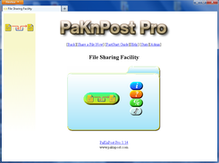 Welcome Page and Main Menu