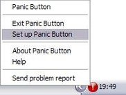 Panic Button sits quietly in the systray