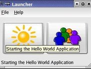 The launcher allows to select available applications