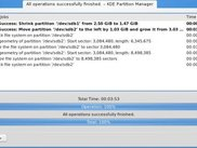 KDE Partition Manager 1.0.1: Operations have been applied