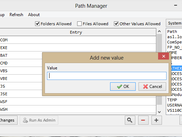 Path Manager in admin mode