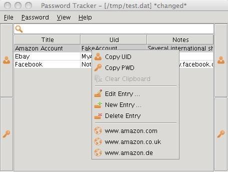 password tracker