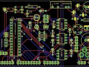 microcontroler board layout in eagle from schematic