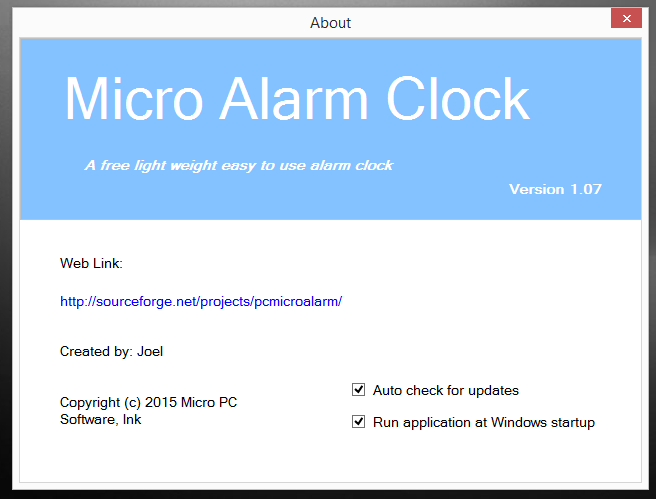 Micro Alarm Clock download | SourceForge net