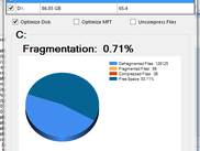 Disk Defrag Analysis Result