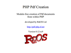 Php Pdf Creation R Os Download Sourceforge Net