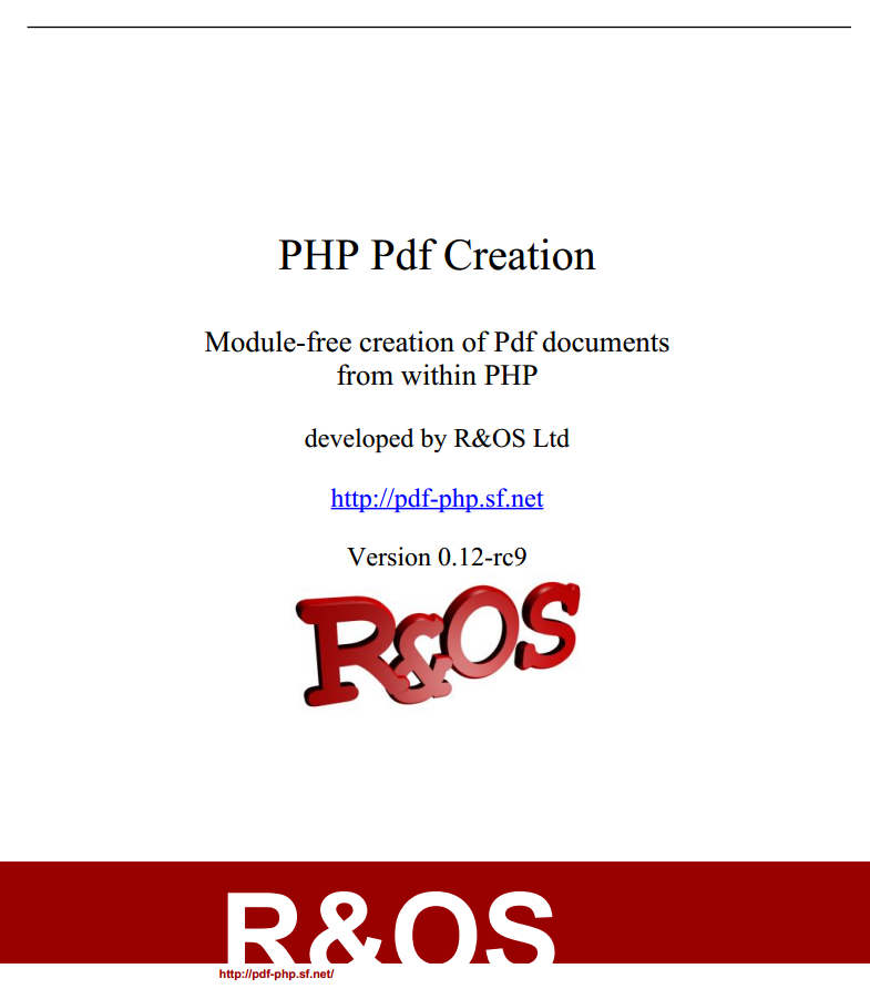 PHP Pdf creation - R&OS download | SourceForge net