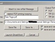 either print to PDF file or create a new eMail attachment.