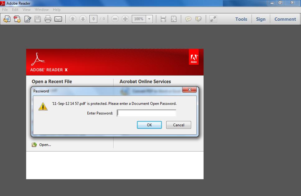Unlock locked pdfs