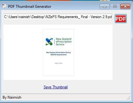 ITEXTSHARP GENERATE THUMBNAIL OF PDF