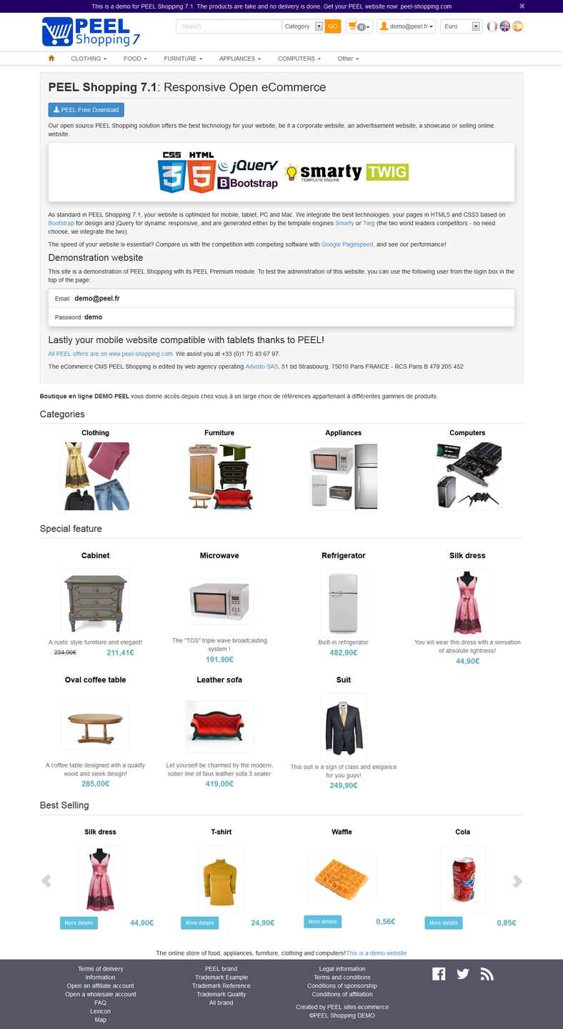 PEEL Shopping : eCommerce shopping cart download | SourceForge net