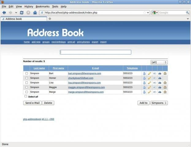Php Address Book Download  SourceforgeNet