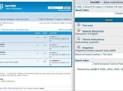 phpBB3:desktop view on the left and mobile view on the right