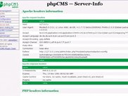 Admin4phpCMS - module phpCMS - Server information