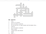 PHP Crossword example